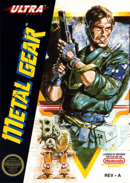 Metal Gear NES Cover