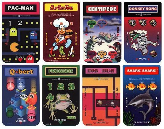 Mattel Intellivision Game Overlays