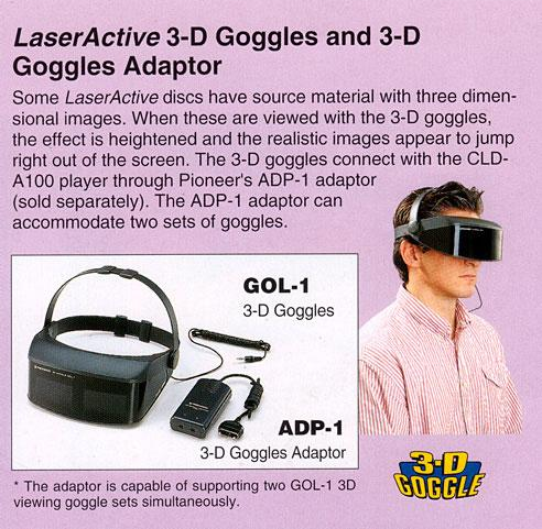 Pioneer LaserActive 3D Goggles